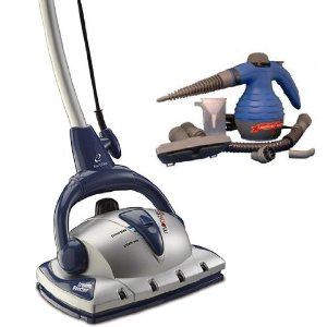 Euroflex Monster EZ1 Steam Mop and Floor Steam Cleaner With Carpet Glide And Handheld Household Steam Cleaner - WE ARE NOW SHIPPING THESE IN RED see second picture