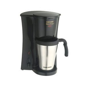 Black & Decker DCM18S Brew-N-Go Coffeemaker with Stainless Steel Travel Mug