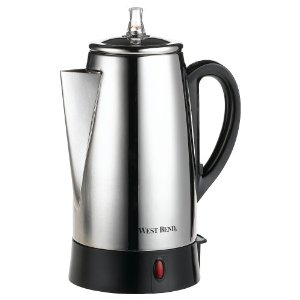 West Bend 54149 12-Cup Automatic Coffee Percolator, Stainless Steel