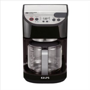 Krups KM4055 Precision 12-Cup Coffeemaker with Glass Carafe