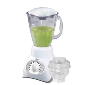 Oster 12-Speed Combo Blender/Food Processor – White