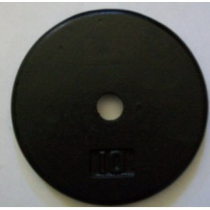 10 lb. Black Cast Iron Standard Plates (Pair)