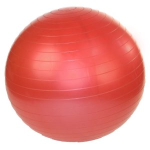 J Fit 45cm Stability Exercise Ball with Pump (Red)