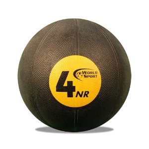 World Sport 4 Kilo (8.8lb) Non-reactive (No Bounce) Medicine Ball