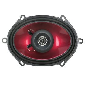 "Visonik 2-Way 200-Watt Car Speakers - Red/ Black (6x9"")"