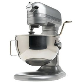 Factory-Reconditioned KitchenAid RKG25H0XMC Professional 5 Plus Bowl Lift Mixer, Metallic Chrome
