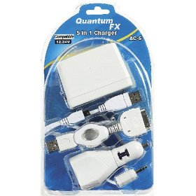 Quantum FX 5-in-1 iPod, MP3, Audio Devise Power Kit