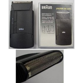 Braun 5524 battery operated electric shaver.