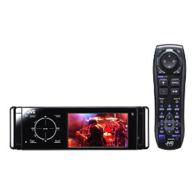 JVC KD-AVX40 El Kameleon DVD/CD/USB Receiver with 3.5-Inch Monitor, Proximity Sensor, Touch Panel Controls, Built-in Bluetooth, and iPod/iPhone USB 2.0