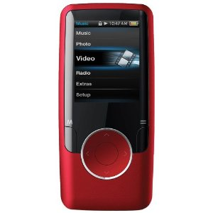 Coby MP620-4GRED 1.8-Inch Video MP3 Player with FM, 4 GB Flash Memory (Red)