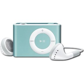Apple iPod shuffle 1 GB Light Blue, Clamshell Package (2nd Generation)