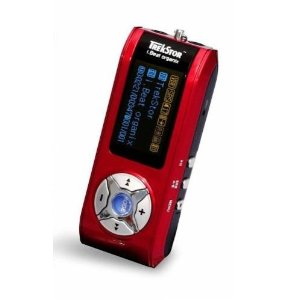 TrekStor i.Beat Organix FM 512 MB MP3 Player with FM Tuner (Red)