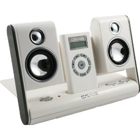 Craig Digital MP3 Audio Player and Folding Travel Speakers