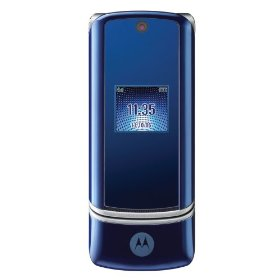 Motorola KRZR K1 Unlocked Phone with 2 MP Camera, MP3/Video Player, and MicroSD Slot--International Version with No Warranty (Cosmic Blue)