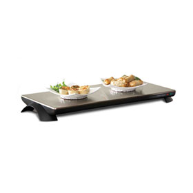 Toastess twt40 warming tray steel cordless 4 plates 60min