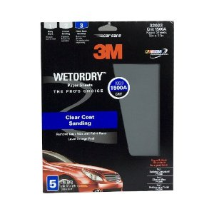 3M Imperial Wetordry Sheet, 9 in x 11 in, Grade 1500, Pack of 5 Sheets