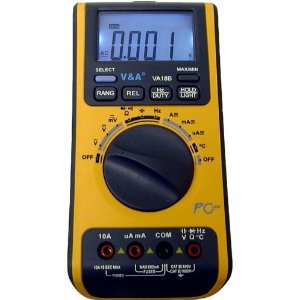 V&A Auto/Manual Ranging Digital Multimeter with USB Interface, VA18B