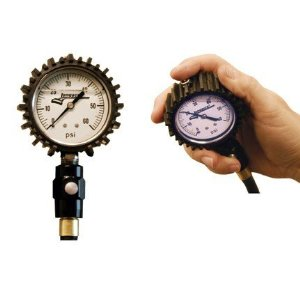 "Longacre Racing Liquid Filled Tire Air Pressure Gauge2-1/2"" Glow in the Dark Face"
