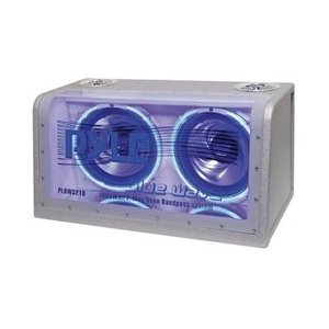 PYLE PLBWS212 Dual 12-Inch 1200 Watt Bandpass withNeon Woofer Rings