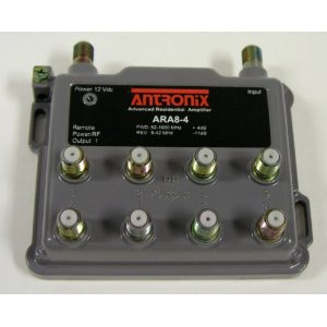 ARA8-4/ACP eight output amplifier with power supply