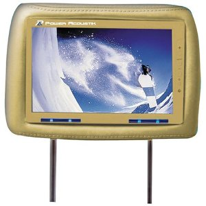 Power Acoustik HD-95BG Dual 9.5-Inch Pre-Installed Universal Headrests (Beige)