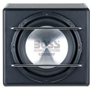 BOSS S12A 12-Inch 1200W 4-Ohm Amplified Subwoofer Enclosure
