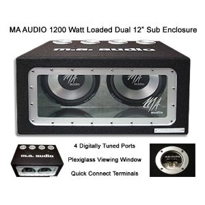 MA Audio MA12BPX 1200 Watt Dual 12