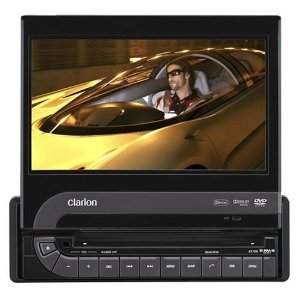 Clarion VZ709 7-Inch Single-DIN Multimedia Station with Touch-Panel Control and USB Port