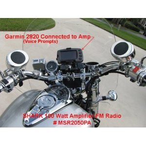 Motorcycle / yacht 2 speakers + amplifier + radio pkg