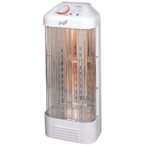 Comfort Zone CZQTV8 Fan Forced Quartz Heater with Beveled Top