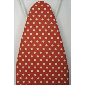 Hestia Houseworks Ironing Board Cover Red Polka Dot