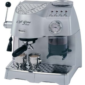 Lello 45920 Ariete Cafe Roma Deluxe Espresso/Cappuccino Maker with Built-In Coffee Grinder