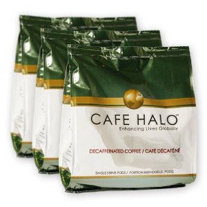 Cafe Halo 3 Flavor Natural Decaf Variety Pack (4.23-Ounce), 16-Count Pods (Pack of 3)