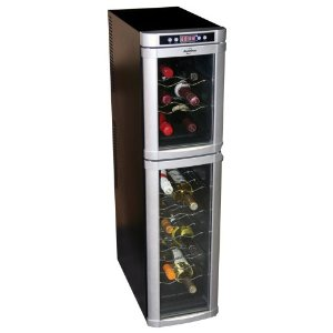 Koolatron KBW-55DD 18-Bottle Freestanding Dual-Zone Tower Wine Cellar