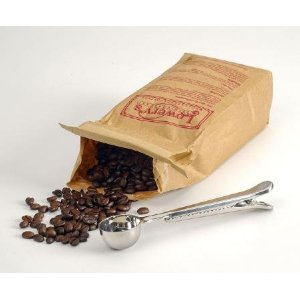RSVP International Endurance Scoop N' Clip Coffee Scoop with Clip 7-in.