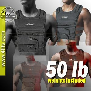 NEW! ZFO-50LBS Adjustable Weighted Vest (WEIGHTS INCLUDED)