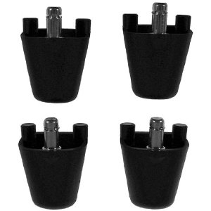 Ball Chair Height Adapters for Isokinetics Inc. or Gaiam� Ball Chairs - Set of 4 - Black