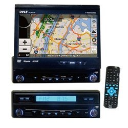 PYLE PLDNV74 7-Inch Motorized TFT Touch Screen DVD/CD/MP3 Player/AM/FM/USB Receiver with Built-In GPS and USA, Canada, Mexico Map