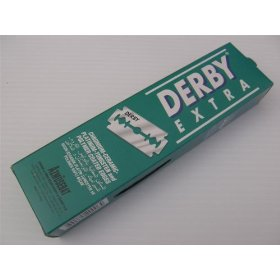 100 Derby Razor Blades Extra Super Stainless Double Edg