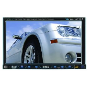 Boss BV8970 8-Inch Single Din In-Dash Widescreen Touchscreen TFT Monitor/DVD/MP3/CD Receiver