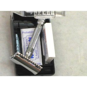 Merkur 333C Short Handle Safety Razor with Comb Guard (MADE BY SOLINGEN IN GERMANY)