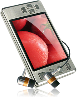 Latte ice lpice16gbslv silver mp3 player 16gb 2.8inch lcd