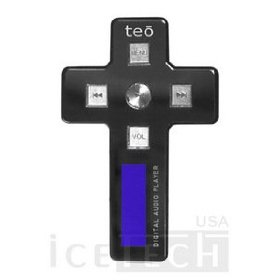 TEO Mp3 player; color: Black; unique cross-shape feature; in-built speaker;