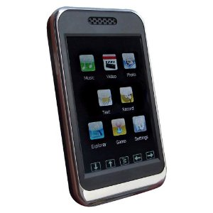 Sylvania 4GB MP3 Player with 2.8-Inch Color Touch Screen (Black)