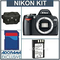 Nikon D60 Digital SLR Camera Body Kit, - Refurbished by Nikon U.S.A - with 4 GB SD Memory Card, Spare EN-EL9 Lithium-Ion Rechargeable Battery, Nikon Gadget Bag,