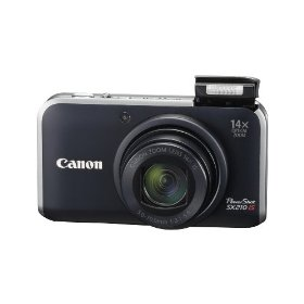 Canon PowerShot SX210IS 14.1 MP Digital Camera with 14x Wide Angle Optical Image Stabilized Zoom and 3.0-Inch LCD (Black)