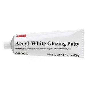 3M Acryl-White Glazing Putty 05095, 14.5 oz Tube