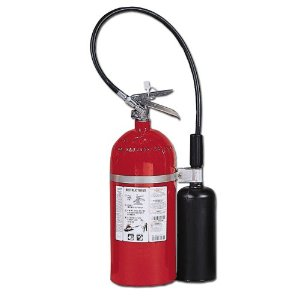 Kidde 466181 Pro 10 CD Fire Extinguisher, UL Rated 10-B:C, Carbon Dioxide, Red