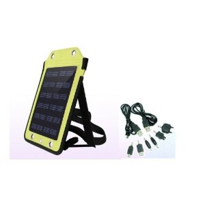 New 6V,410mA Portable Travelling Solar Charger for Cell Phone w/ USB charging cable,GPS,DC,MP3/4 (Power Bank Not Included)