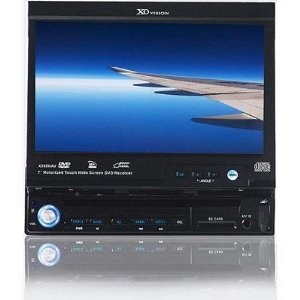 XO Vision X355NAV 7-Inch 1-DIN Fully Motorized DVD/CD/MP3 Receiver with USB/SD/AUX Inputs and Detachable Face